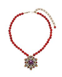 Heidi Daus - Red Snow Star Pendant Necklace - Lyst