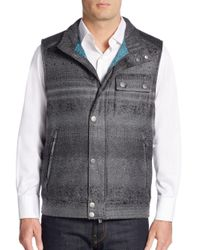 Robert Graham - Gray Classic-fit Laconia Mixed-plaid Vest - Lyst