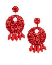 Kenneth Jay Lane - Red Gypsy Earrings - Lyst