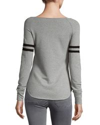 R + R Surplus - Gray Boatneck Varsity Sweatshirt - Lyst