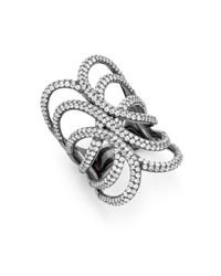 Noir Jewelry - Black Crystal Ring - Lyst