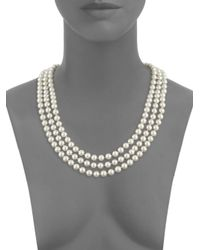 ERWIN PEARL STUDIO - White Faux Pearl Multi-strand Necklace - Lyst