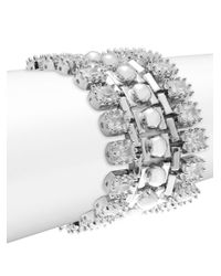Eddie Borgo - Metallic Dome Estate Crystal Bracelet - Lyst