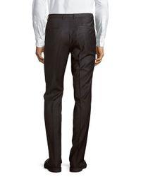 HUGO - Multicolor Wool-blend Straight-leg Pants for Men - Lyst