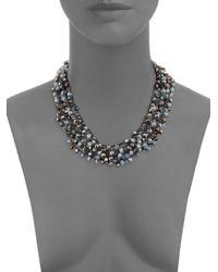 Saks Fifth Avenue - Multicolor Beaded Collar Necklace - Lyst