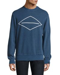 Rag & Bone - Blue Cotton Graphic Sweatshirt for Men - Lyst