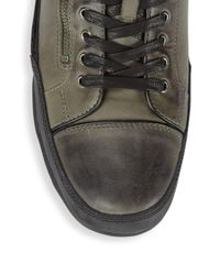 John Varvatos - Multicolor Zippered Leather Sneakers for Men - Lyst