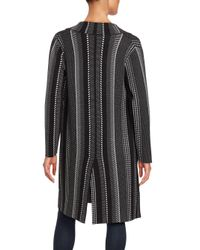 Saks Fifth Avenue Black - Black Striped Long Sleeve Jacket - Lyst