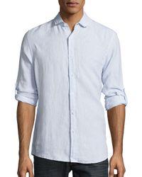 Saks Fifth Avenue - Blue Classic Fit Linen Button-down Shirt for Men - Lyst