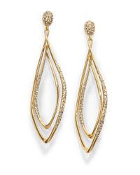 Alexis Bittar - Metallic Miss Havisham Liquid Crystal Orbiting Link Earrings/goldtone - Lyst
