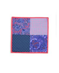 Saks Fifth Avenue - Red Mixed-print Silk Pocket Square - Lyst