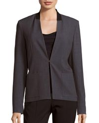 T Tahari | Gray Farley Long Sleeve Jacket | Lyst
