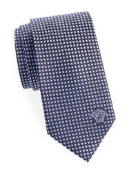 Versace - Blue Diamond Pattern Silk Tie for Men - Lyst