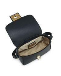 Valentino By Mario Valentino - Black Yasmine Leather Shoulder Bag - Lyst