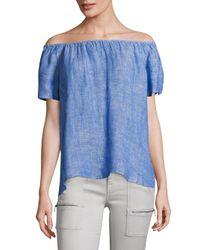 Joie - Blue Amesti Linen Off-the-shoulder Top - Lyst