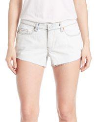 Blank NYC - White Denim Cut-off Shorts - Lyst