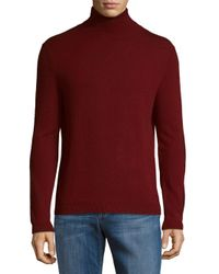 Saks Fifth Avenue - Red Solid Cashmere Sweater for Men - Lyst