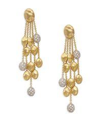 Marco Bicego - Metallic Siviglia Diamond & 18k Gold Earrings - Lyst