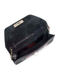Valentino - Black Demilune Leather Chain Shoulder Bag - Lyst