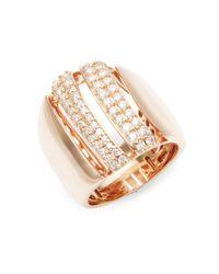 Effy - Metallic Diamond & 14k Rose Gold Midi Ring - Lyst