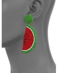 Kenneth Jay Lane - Pink Beaded Melon Drop Earrings - Lyst