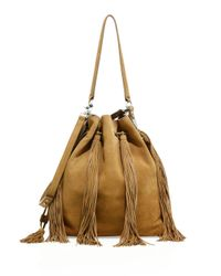 Loeffler Randall - Multicolor Industry Fringe Suede Bucket Bag - Lyst