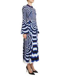 Mary Katrantzou - Blue Desmine Printed Silk Dress - Lyst