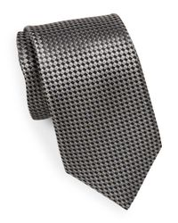 Saks Fifth Avenue - Black Textured Silk Tie for Men - Lyst
