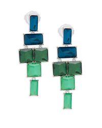 Ippolita - Green 925 Rock Candy Stacked Linear Post Drop Earrings In Taffeta - Lyst