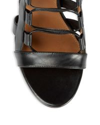 Aquazzura - Black Lace-up Leather Heels - Lyst