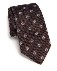 Ike Behar - Brown Grenadine Silk Tie for Men - Lyst