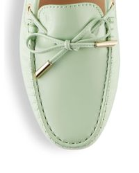 Tod's - Green Heaven New Laccetto Occhielli Loafers - Lyst