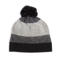 Saks Fifth Avenue | Gray Tri Color Cashmere Beanie | Lyst