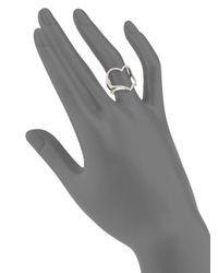 Effy - Metallic Diamond & 18k White Gold Solid Fill Midi Ring - Lyst