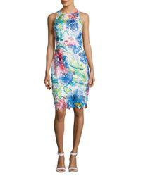 Betsey Johnson - Blue Printed Lace Dress - Lyst