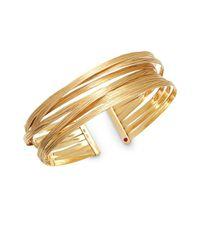 Roberto Coin - Metallic Basic Gold 18k Yellow Gold Crisscross Cuff Bracelet - Lyst