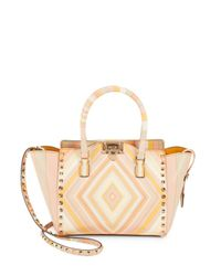 Valentino - Multicolor Rockstud Studded Leather Tote Bag - Lyst