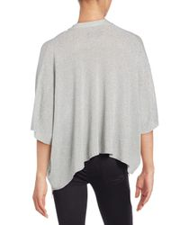 Zadig & Voltaire Gray Solid Asymmetrical Hem Top