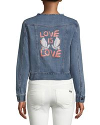 Rebecca Minkoff - Blue Charlie Love Is Love Denim Jacket - Lyst