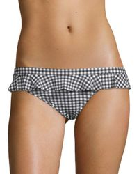 Juicy Couture - Black Gingham Bikini Bottom - Lyst