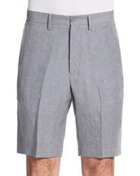Saks Fifth Avenue - Gray Winn Chambray Linen Shorts for Men - Lyst
