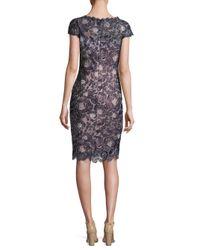 Tadashi Shoji - Multicolor Vintage Rose Sheath Dress - Lyst