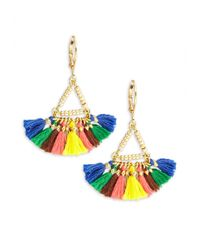 Shashi - Metallic Lilu Carnival 18k Gold-plated Vermeil Sterling Silver Earrings - Lyst