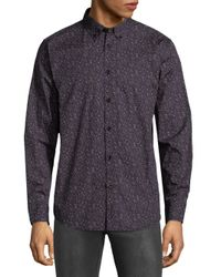 Ben Sherman - Black Floral Cotton Button-down Shirt for Men - Lyst
