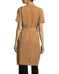 BCBGeneration - Brown Short Sleeve Trench Topper - Lyst