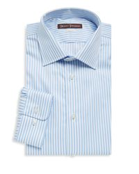 Hickey Freeman - Blue Bengal Stripe Dress Shirt for Men - Lyst