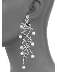 Kenneth Jay Lane - Multicolor Faux Pearl Linear Earrings - Lyst