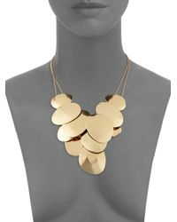 Saks Fifth Avenue - Metallic Disc Statement Necklace - Lyst