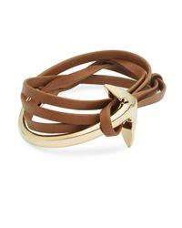 Miansai - Brown Brummel Leather & Anchor-charm Bracelet - Lyst