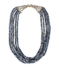 Heidi Daus - Blue Crystal Multi-strand Necklace - Lyst